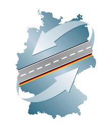 Signet Deutschland Transport Straßen Autobahn mit QXP9 Datei