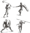 Ancient Gladiator Sketches - 41736482