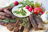 American Balkan BBQ served with organic vegetable DOF poster