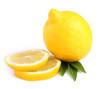 Sliced ??lemon on a white background