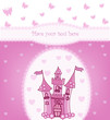 Princess card with Magic Castle