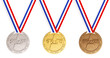 canvas print picture - Gold, Silver and Bronze medals