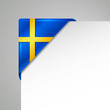 sweden metallic looking vector corner