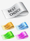 Best choice labels