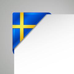 sweden metallic looking vector corner