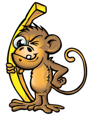 monkey funny cartoon