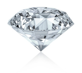Classic and realistic diamond.Vector.