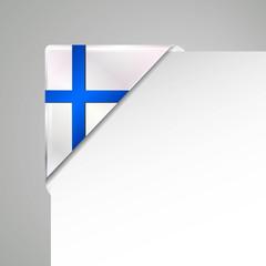 finland metallic vector corner