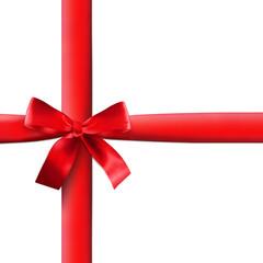 Rote Geschenkschleife