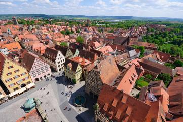 Market square of Rothenburg ob der Tauber, Germany
