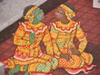 Gossip, Mural painting in Thai royal temple