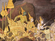 Mural painting in Thai royal temple, Ramayana