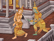 Love scene, Mural painting in Thai royal temple, Ramayana