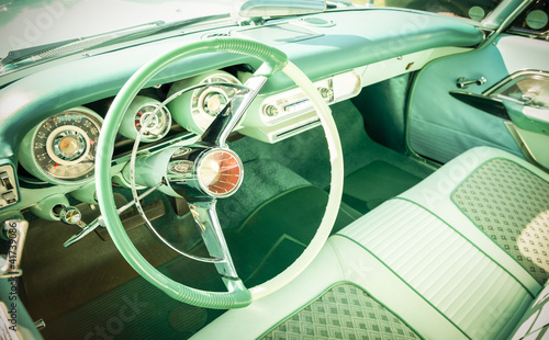 retro styled vehicle dashboard