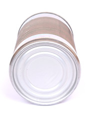 Tin can on white