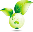 Planète terre verte écologique vectorielle