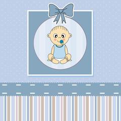Tarjeta anuncio nacimiento bebe niño