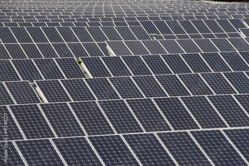 Aufgereihte Solarfelder