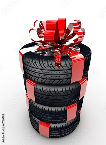 Tyres with ribbon