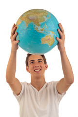 Silas mit Globus