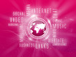 Background Media Marketing, Social, Magenta, Magenta Earth