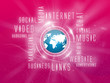Background Media Marketing, Social, Magenta, Blue Earth