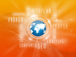 Background Webplan, Social, Orange, Blue Earth