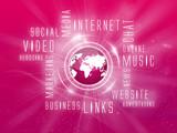 Background Media Marketing, Social, Magenta, Magenta Earth