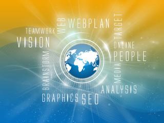 Background Webplan, Social, Orange-Blue