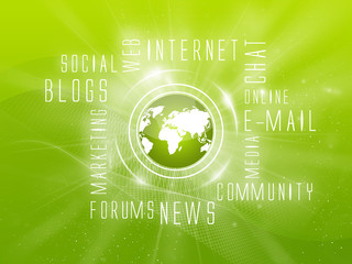 Background Internet Services, Social, Green