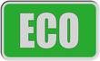 Sticker grün eckig rel ECO