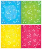 Fototapety Set of swirl backgrounds