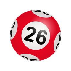 Tirage loto, boule numéro 26