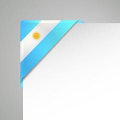 argentinia metallic looking flag bookmarking