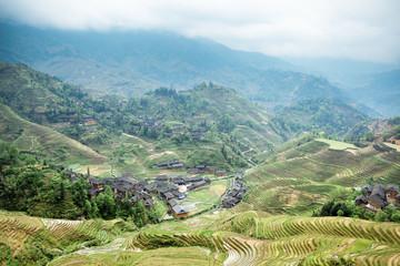 terraces surround the village