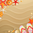 Holiday greeting card with shells