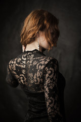 Girl in lace dress