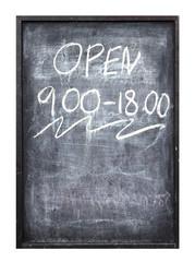 blackboard show open time