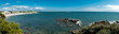 Panoramic view of Larmor Plage, in Brittany, France