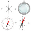 compass in silver color in part vector illustration - 41743617