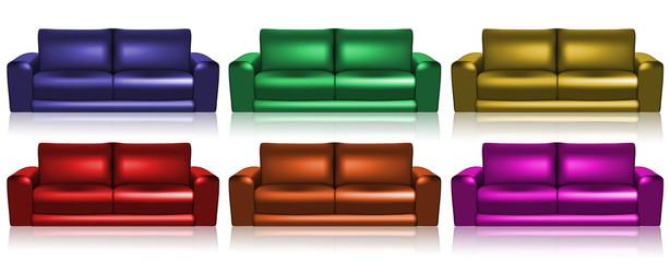 Canapés de couleur
