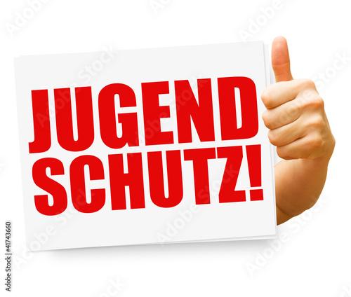 canvas print picture Jugendschutz! Button, Icon