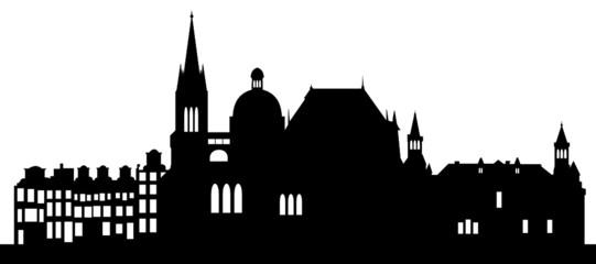 Skyline Aachen mit Wahrzeichen