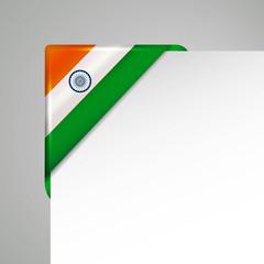india metallic flag corner