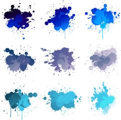 Blue paint splat