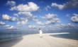 FREEDOM   Man running on the beach