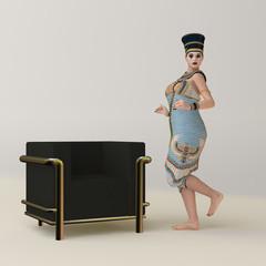 Frau in antiker ägyptischer Kleidung