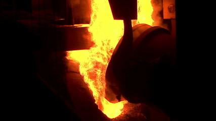 Steel Works. Converter plant. Smelting of metal.