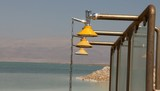 Shower in the Dead Sea coast