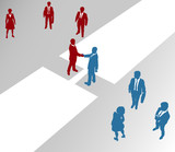Business company teams join merger bridge 2 poster